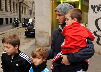 David Beckham and his sons