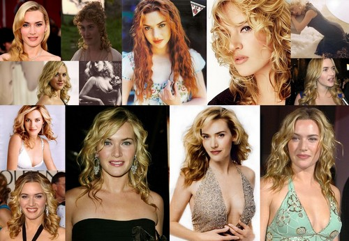 Kate Winslet with curly hair
