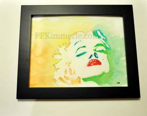 Marilyn Monroe Life (watercolor) Wall Art