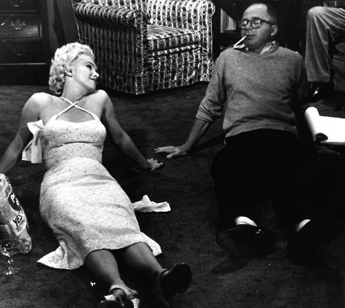 Marilyn Monroe and Billy Wilder (The-Seven-Year-It)