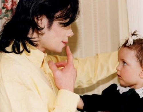 CUTE!!! Michael and Paris.