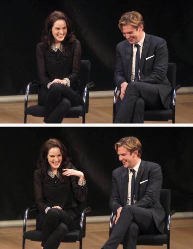 Michelle Dockery And Dan Stevens At The PBS Special Screening Of Downton Abbey <3