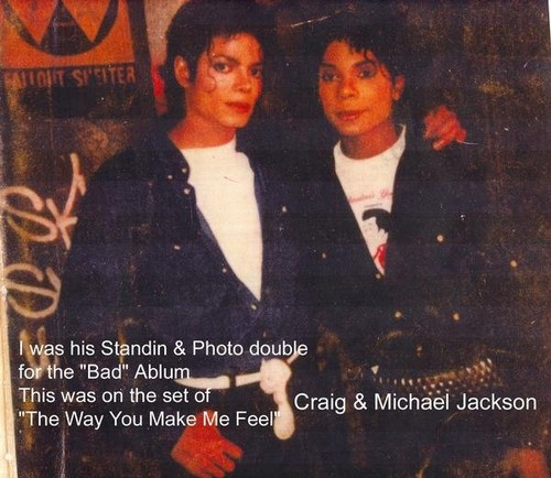 "RARE Michael Jackson with stand in Craig Parks on set of ""TWYMMF""♥"