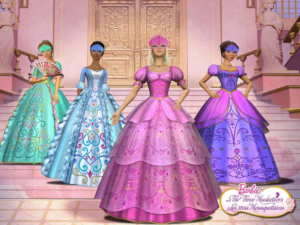 Ready To Sneak To The Masquarade Ball Barbie And The Three