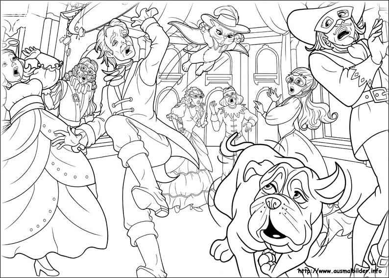 3ms Coloring Page Barbie And The Three Musketeers Foto 30656028