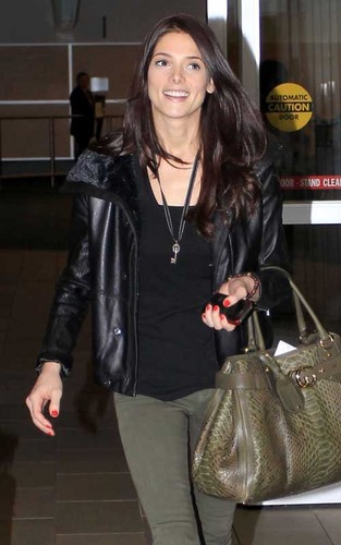 Ashley Greene arriving in Vancouver for the 'Breaking Dawn' re-shoots (April 30).