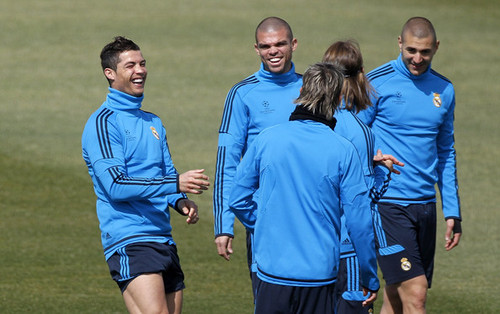 C. Ronaldo (Real Madrid training session)