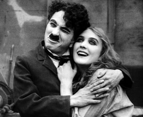 Chaplin and Edna Purviance