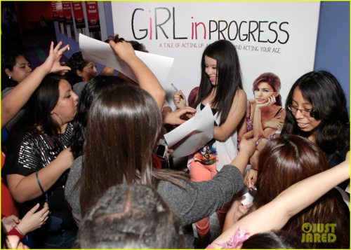 Eva - Eva and Cierra Ramirez at the charity screening of their film Girl in Progress, April 28, 2012