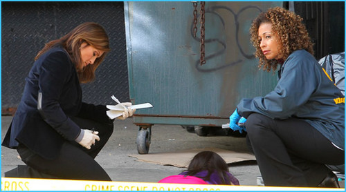 SVU cast on set 2010/11