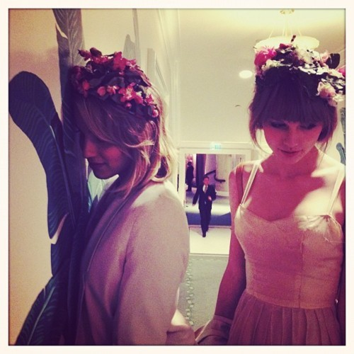 Taylor matulin and Dianna Agron<3
