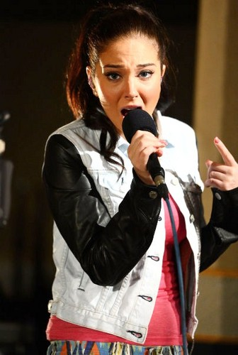 Tulisa in the Radio 1 Live Lounge