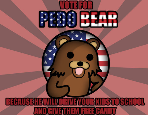 Vote For Pedo menanggung, bear