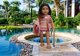 my american girl doll swimming!!!!!!!!!!