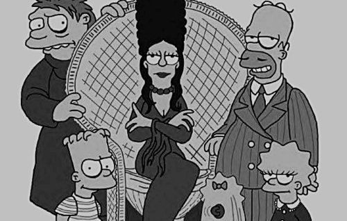 the simpsons as the adams family