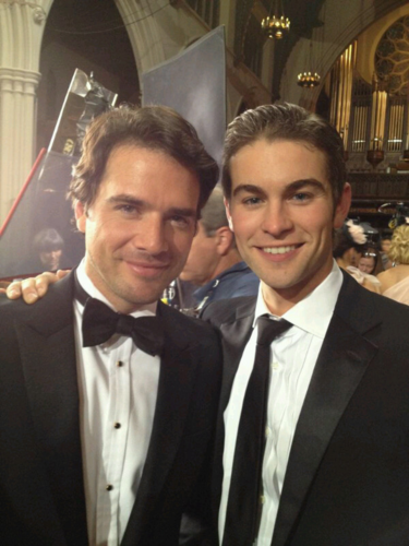 Chace - Gossip Girl - Behind the Scenes - November 10, 2011