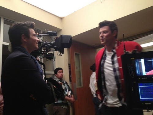 Cory last day on set of Glee for season 3