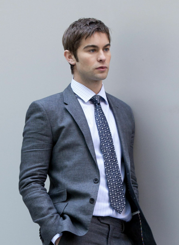Nate - Gossip Girl - Behind the Scenes - March 30, 2012