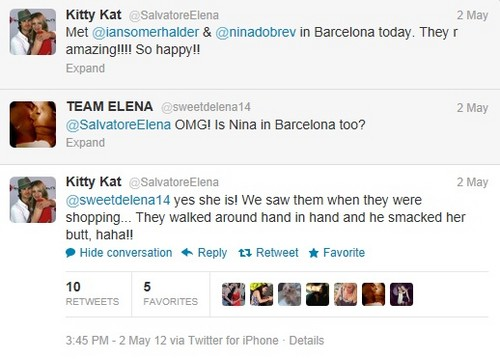Nian tagahanga sighting in Barcelona?!? 05-02-12