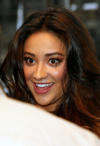Shay Mitchell Dazzles in Orange