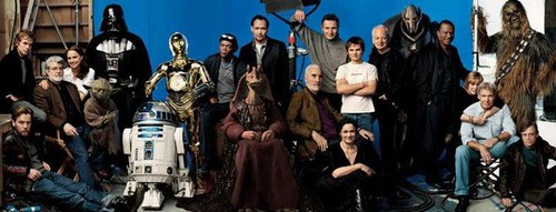The whole star wars family
