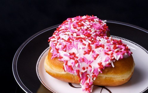 heart shaped doughnut