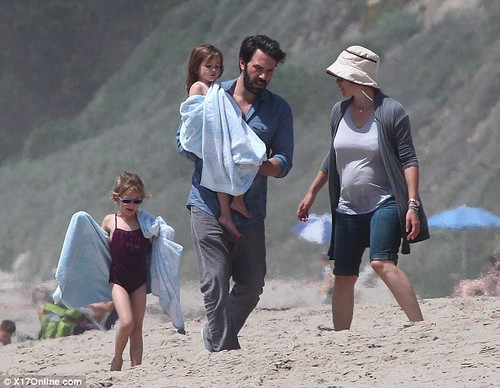 Ben, Jen and their 3 kids at the strand
