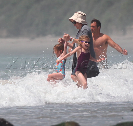 Ben, Jen and their 3 kids at the spiaggia