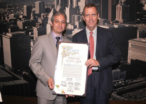 Hugh Laurie and David Shore at LA City Council promoting local Tv Production 16.05.2012- HQ