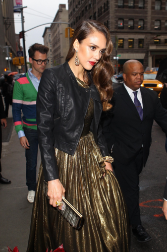 Jessica - Leaving her hotel for MET Gala in New York - May 07, 2012