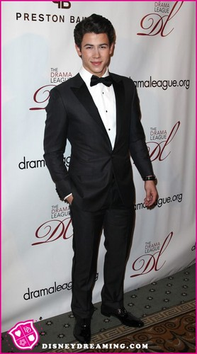 Nick Jonas At The Drama Leagues Benefit Gala For Kristin Chenoweth On February 6, 2012.