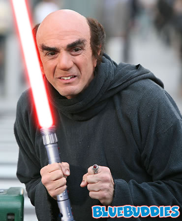 gargamel with a lightsaber