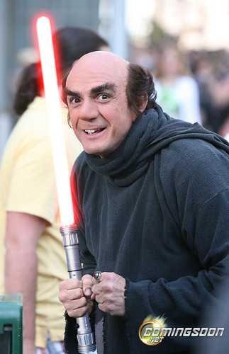 gargamel with ligthsaber