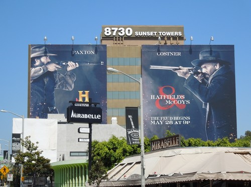 Billboard for Hatfield and McCoys