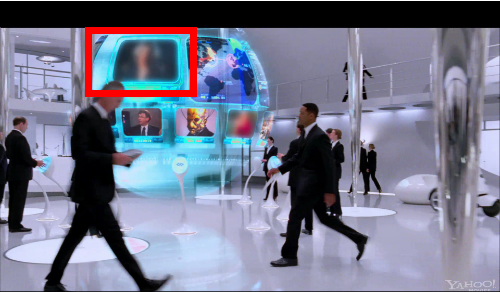 Gaga's cameo blurred in MIB3 trailer?