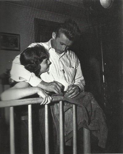 Natalie Wood and James Dean on the set of RWAC :)