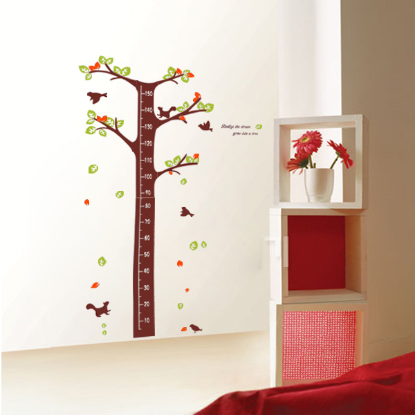 Realize the Dream Grow into Tree Height Measurement Wall Sticker