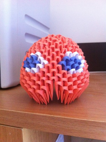 3D Origami Pacman Ghost -Clyde