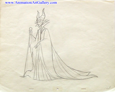 Disney Villains Production drawing-Maleficent