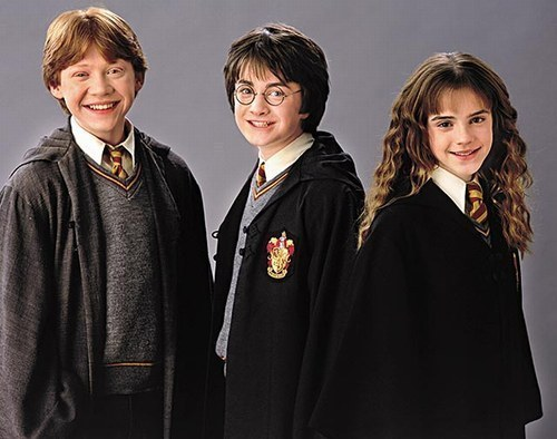 Harry, Ron , and Hermione