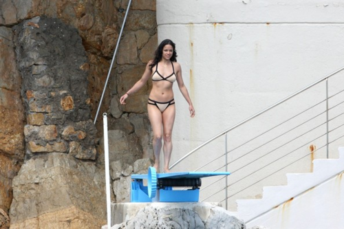Michelle - in a Tan Bikini, in Antibes, France - May 23, 2012