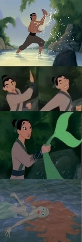 Mulan catches Ariel