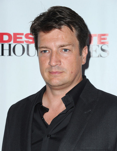 "Nathan Fillion arrives to the Series Finale of ABC's ""Desperate Housewives"""