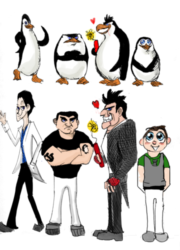 Penguin/Human!Penguin Sketch thingamajigger