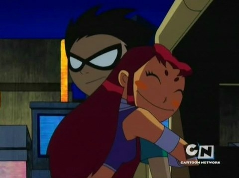 robin and star hugging