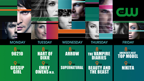 the cw schedule 2012