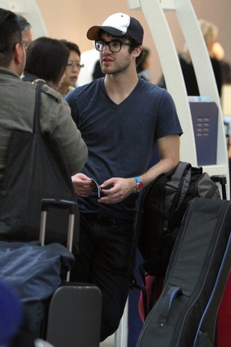 Darren at the airport in Toronto