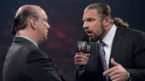 HHH and Heyman discuss Lesnar