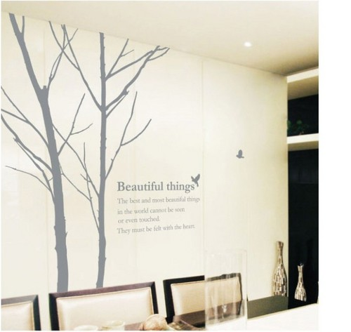 Beautiful Things Tree with Birds Wall Sticker