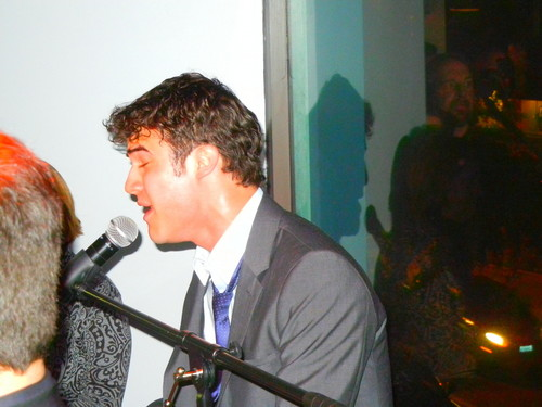 Darren Criss at the opening of, the now defunct, gaybar The Office, in West Hollywood